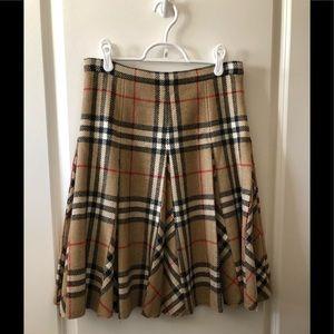 Burberry London knee Lenght wool plaid skirt 4